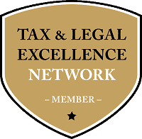 "Wappen mit ""Tax & Legal Excellence Network Member Aufschrift"""