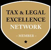 """Wappen mit """"Tax & Legal Excellence Network Member Aufschrift"""""""
