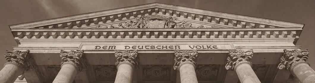 Nahaufnahme des Deutschen Reichstags