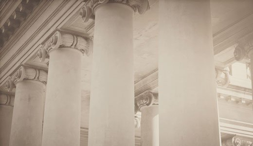 Detailaufnahme von Antiken Säulen