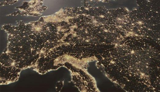 Satellitenaufnahme der Erdoberfläche