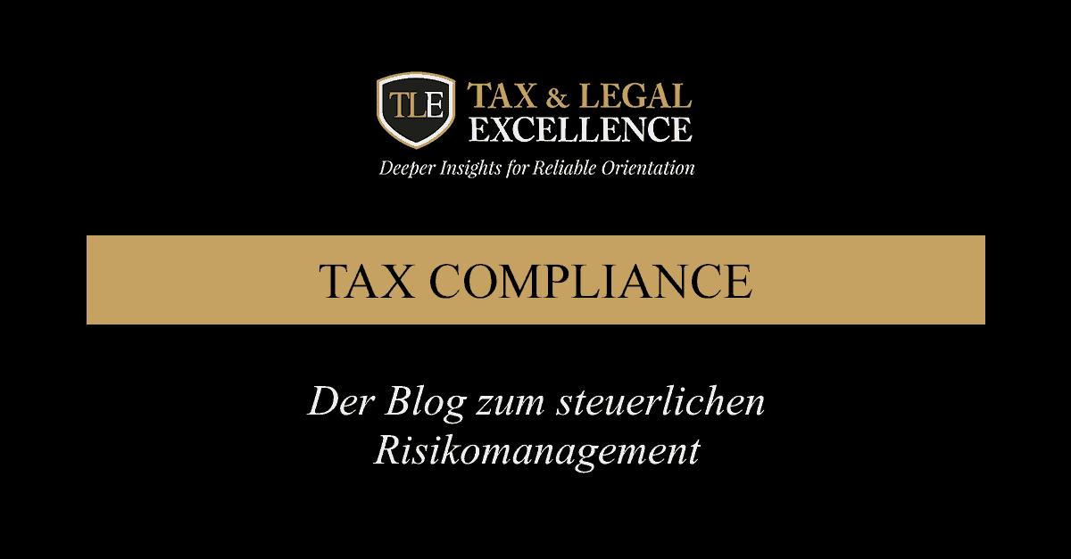 Der Blog zum steuerlichen Risikomanagement